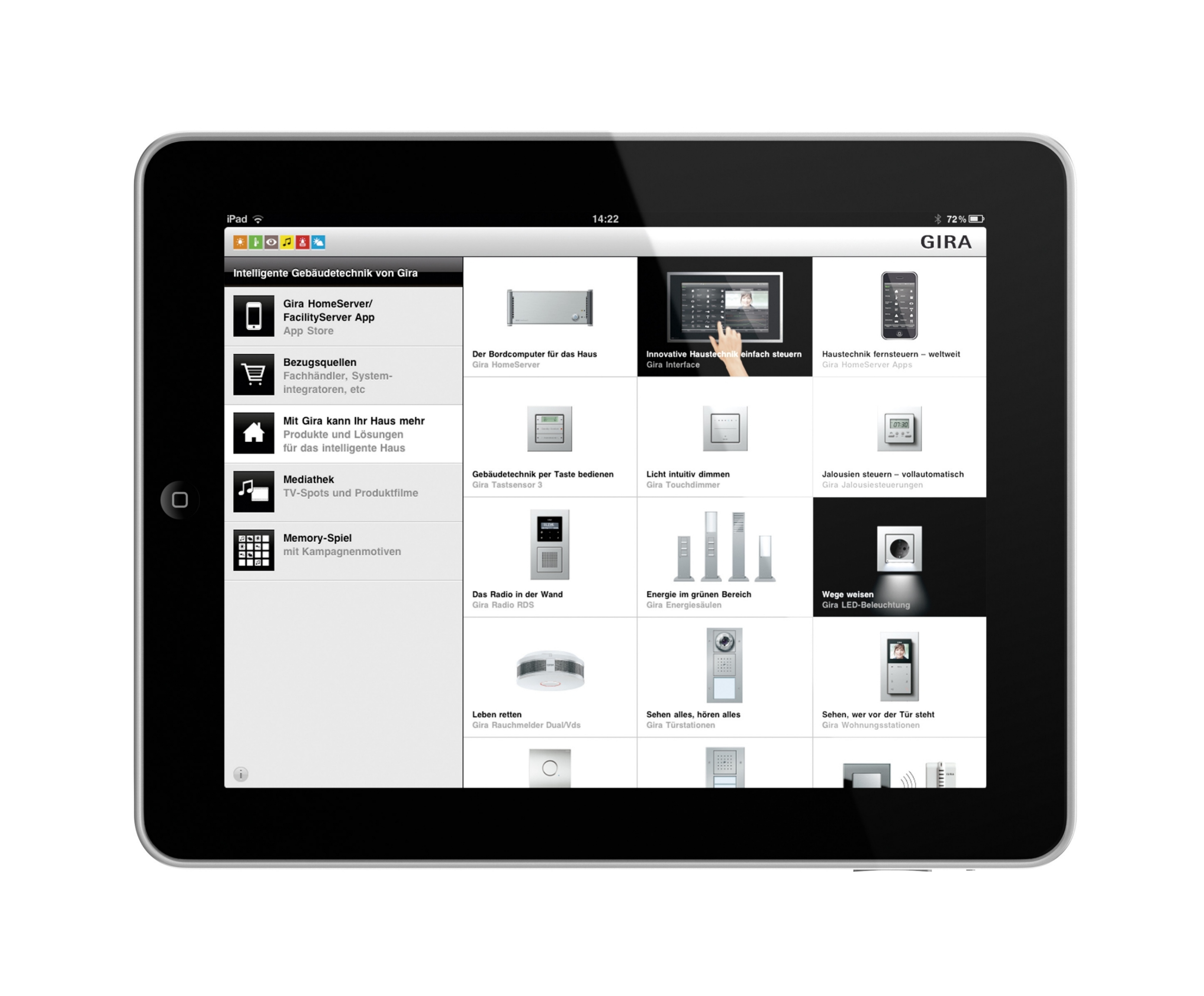 app intelligente geb udesteuerung von gira im app store. Black Bedroom Furniture Sets. Home Design Ideas