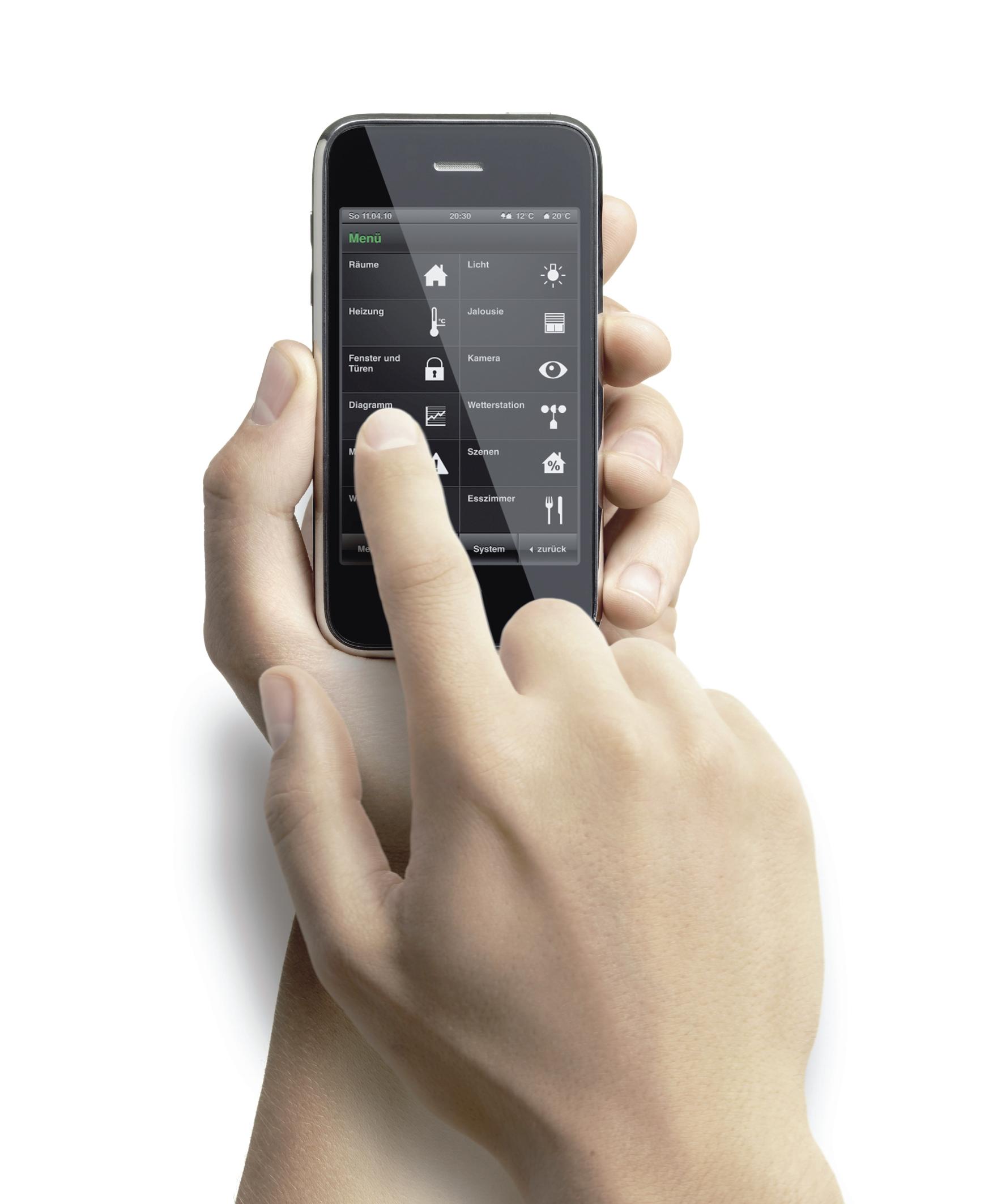 gira steuert geb udetechnik ber iphone ipad und ipod touch. Black Bedroom Furniture Sets. Home Design Ideas