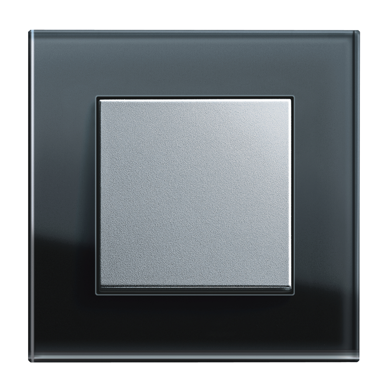 schalterprogramm gira esprit glas schwarz. Black Bedroom Furniture Sets. Home Design Ideas