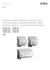 Switching actuator 4-gang / blind actuator 2-gang, Switching actuator 8-gang / blind actuator 4-gang, Switching actuator 16-gang / blind actuator 8-gang
