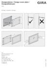 Design frame for Gira Control 19