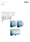 Dimming actuator 1-/2-/4-gang (I02)