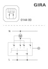 Switch/2-way momentary contact, 2-pole