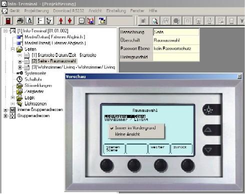 Gira faq info terminal vorschaufenster w hrend der for Fenster immer im vordergrund